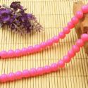 Beads, Glass, Magenta , Round shape, Diameter 8mm, 10 Beads, [BHB0155]